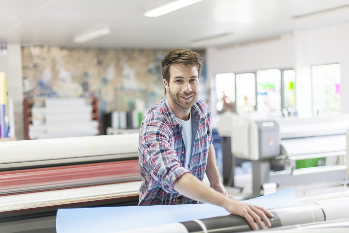 Financial Services Direct Mail guy working in printing company web