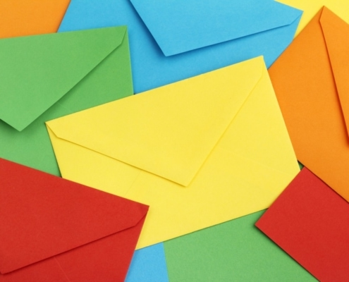One Stop Mail Blog colorful envelops web
