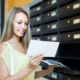 bulk direct mail services young girl near posting box web